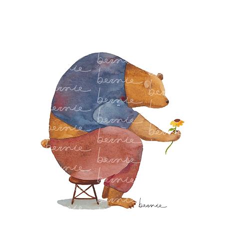 El oso y su flor