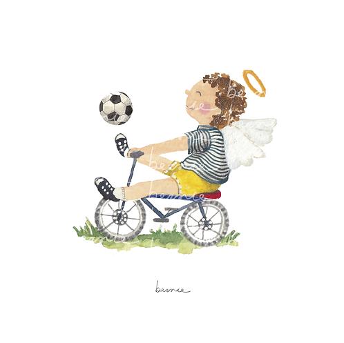 Angelito en bici