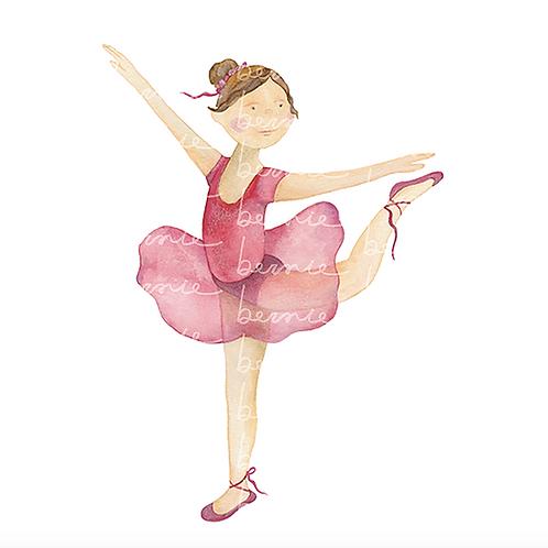 Bailarina en un pie