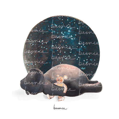 Jipo y la luna