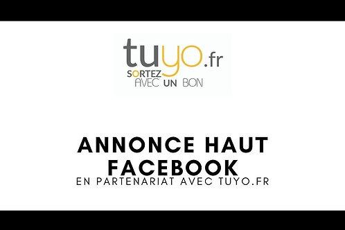Pub / Annonce haut d'un groupe Facebook tuyo.fr