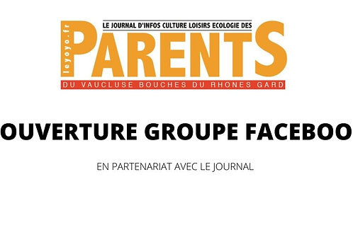 Pub / Couverture un groupe Facebook Parents (en partenariat)