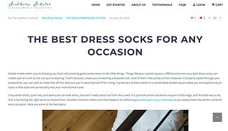 Suthern Scholar Socks