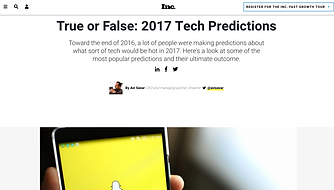 Inc. Tech Predictions