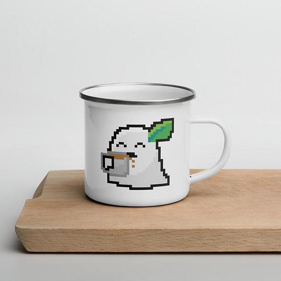 Coffee Ghost Enamel Mug