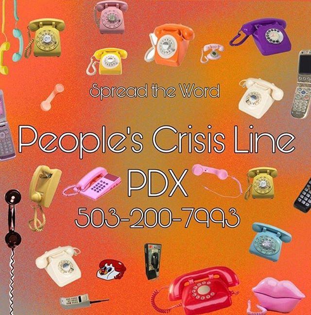 ☎️ pssssst...People's Crisis Line PDX 50