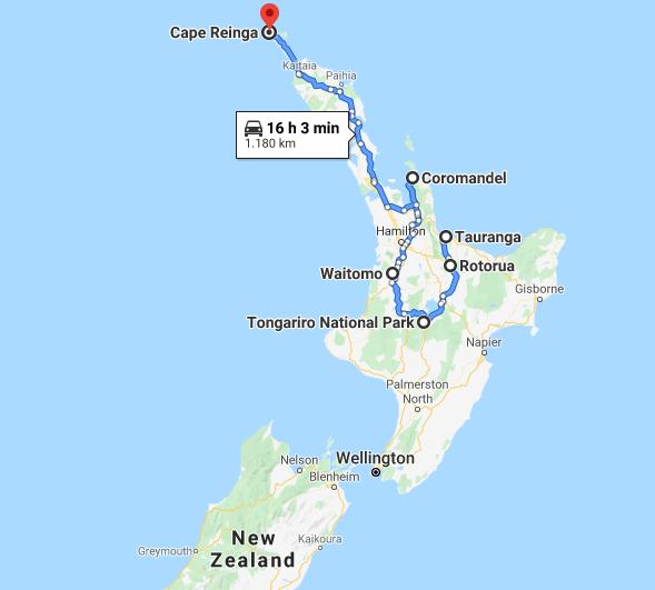 Potovanje Nova Zelandija, severni otrok