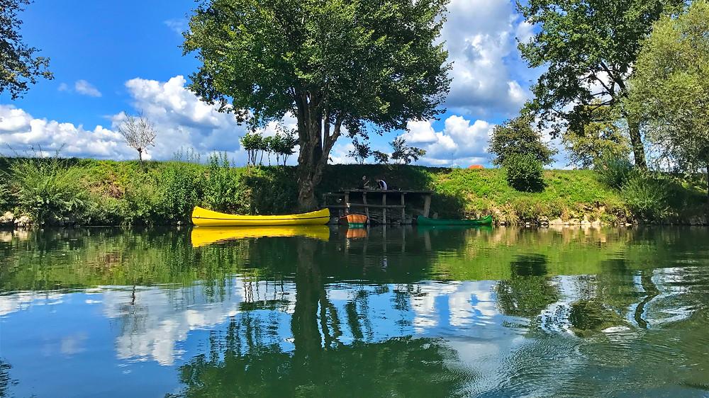 reka Krka, Kostanjevica na Krki