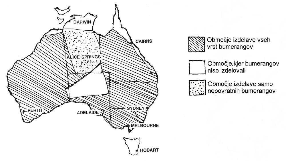 Zemljevid izdelave bumerangov