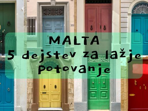 Malta – 5 dejstev za lažje potovanje