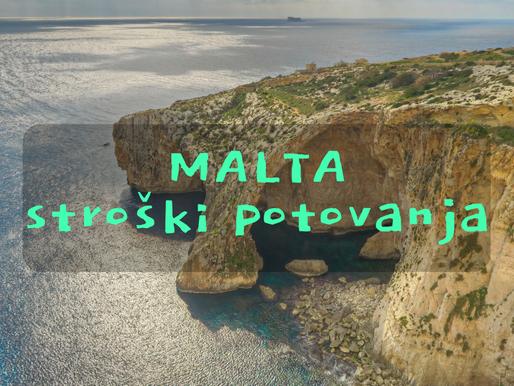 Malta - stroški potovanja