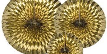 Gold Fans (3pk)