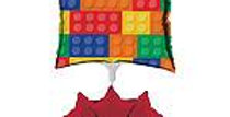 Block Party Air Filled Balloon Centrepiece Kit (each)