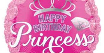 Pink Princess Crown Balloon - 18''Foil (each)