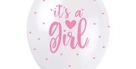 Its A Boy Blue /girl pink Assortment 5CT 12'' Helium Fill Latex Balloon