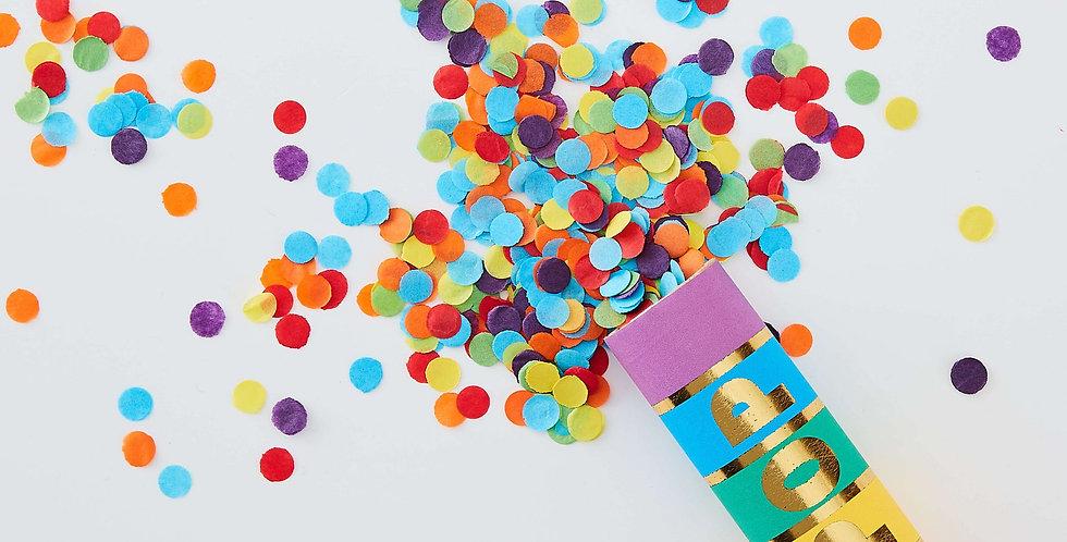 Rainbow Biodegradeable Confetti Cannon Shooter - Over The Rainbow