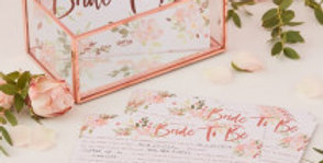 Bride To Be Advice Cards - Floral Hen Party 10pk