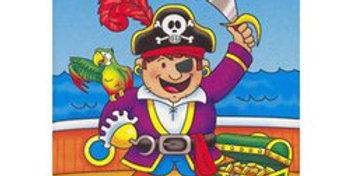 A6 Mini Pirate Sticker Activity Book (each)