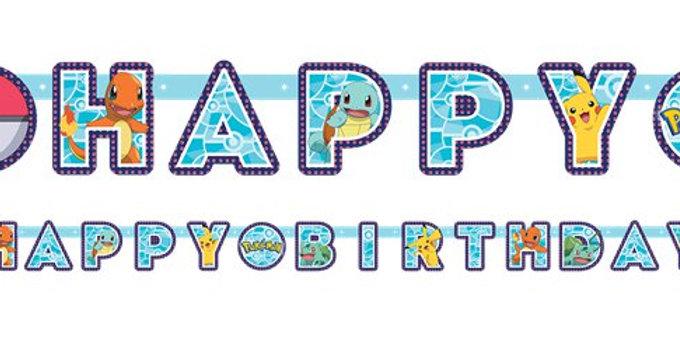 Pokémon Birthday Letter Banner - 2.1m (each)