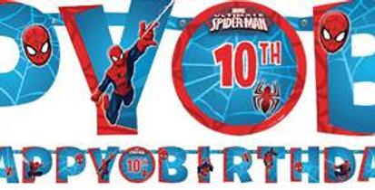Spiderman Team Up Birthday Banner