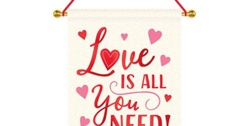 Love Is All You Need Hanging Canvas Sign (each)