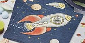 PAPER NAPKINS - SPACE ADVENTURE PARTY 20pk
