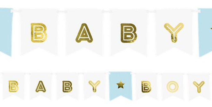 Blue Baby Boy Banner - 1.6m (each)
