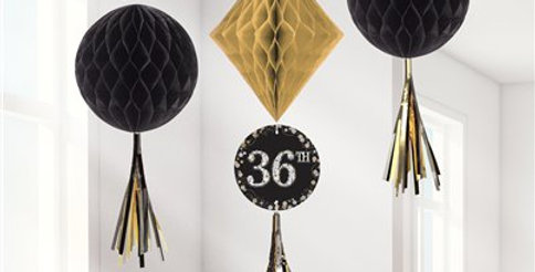 Sparkling Celebration Add an Age Honeycomb Decorations (3pk)