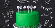 Birthday candles Soccer Balls, 2.5cm 6pk