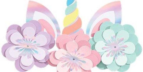 Magical Rainbow Unicorn Wall Decorating Kit (each