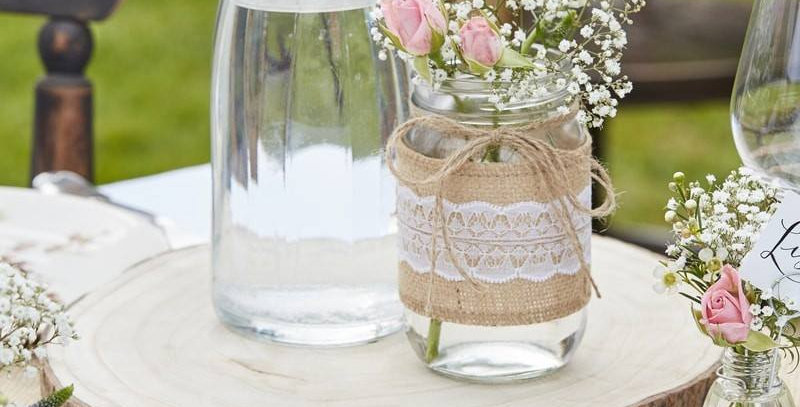 ARTIFICIAL WOODEN SLICE CENTRE PIECE - RUSTIC COUNTRY