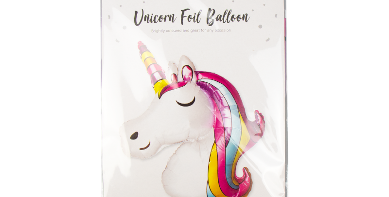 Unicorn foil balloon 112cm