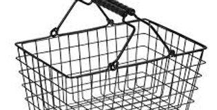 Metal shopping mini basket 18 x13 cm