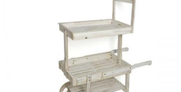 135 height x 90cm length 55cm depth Shabby chis wooden cart