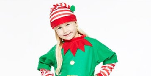 Elf - Child Costume (each)  2--3,4-6 years Top, trousers and hat.