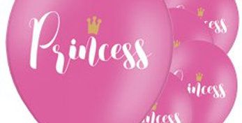 Hot Pink Princess Balloons - 12''Latex (6pk)