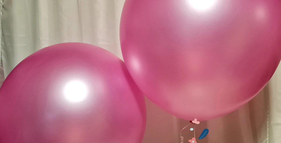 Giant pearl pink latex balloons 1m includes helium