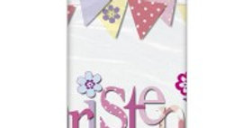 Christening Pink / Blue Table Cover