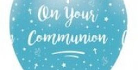 On Your Communion - All Round Print 6Ct blue