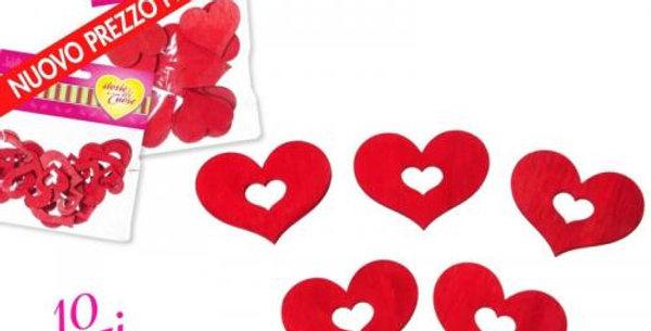 wooden heart decoration 4cm 10pk