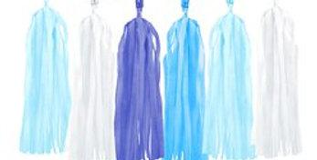 Blue Mix Tassel Garland Decoration - 1.5m (each)