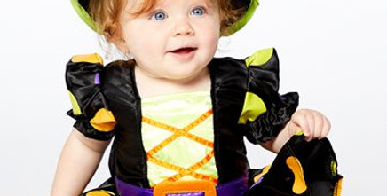 Baby Witch - Baby and Toddler Costume includes dress with printed hat