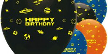 Space Blast Party Balloons - 12 Printed Latex (6pk)