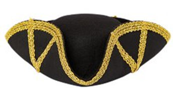 Black & Gold Pirate Lady Hat (each)