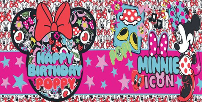 Minnie Mouse Giant Personalised Banner - 1.2m (each)