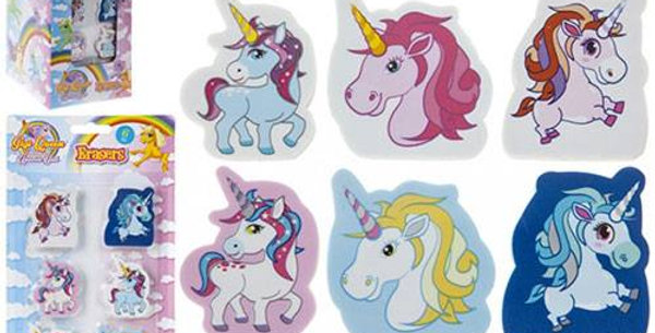 UNICORN DESIGN 2D SHAPED ERASERS