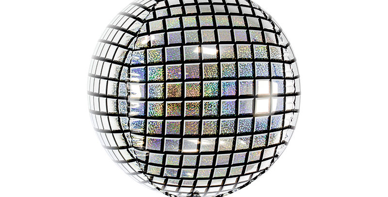 Foil balloon Disco Ball made of holographic foil, size approx. 40 cm (16'')