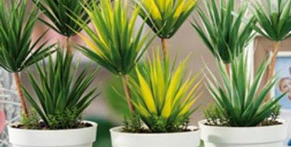 Artificial plant in pot h33cm