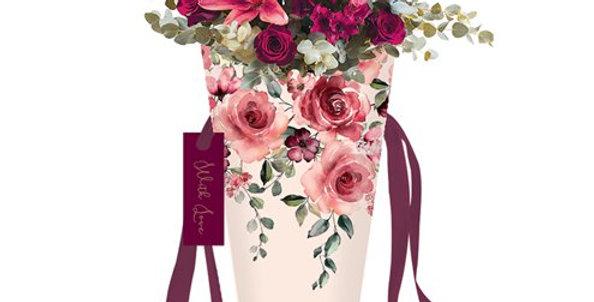 Romance Floral Medium Flower Bag