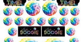 70s Disco Fever Cutout Decorations - 28cm (30pk)